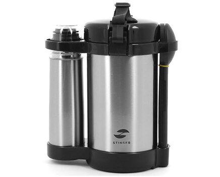 Купите термос суповой 1,5 л на 3 контейнера и мини-термос на 250 мл Stinger hy-lb408-1 в интернет-магазине