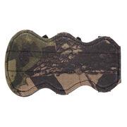 Крага для защиты руки от тетивы Topoint TP107 (двусторонняя камуфляж/черная, кордура, 3 застежки)